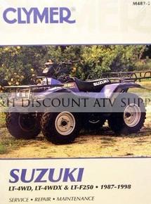 Suzuki LTF250 LT4WD Quadrunner CLYMER Repair Manual