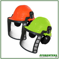 Forestry Helmet Green Woodsman System 8577 Green  6 Point Ratchet Suspension NEW
