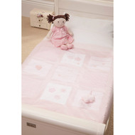 Silver Cross Cot Bed Quilt - Vintage Pink