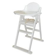 East Coast Folding Highchair - White/grey