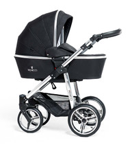 Venicci Silver Edition 2 in 1 - Black  + Cabriofix car seat + 2wayfix base + 2way Pearl + Maxi cosi adaptors