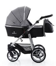 Venicci Silver Edition 2 in 1- Denim Grey + Cabriofix car seat + 2wayfix base +Maxi cosi adaptors