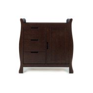 Obaby Lincoln Sleigh Changing Unit - Walnut