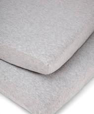 Mamas & Papas 2 Cot/Bed Fitted Sheets - Grey Marl