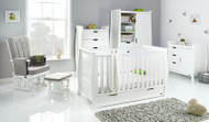 Obaby Stamford Classic 5 Piece Room Set - White