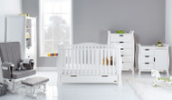 Obaby Stamford Luxe 5 Piece Room Set - White