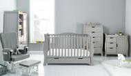 Obaby Stamford Luxe 5 Piece Room Set - Warm Grey