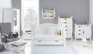 Obaby Stamford Luxe 7 Piece Room Set - White