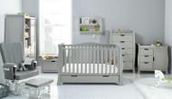 Obaby Stamford Luxe 7 Piece Room Set - Warm Grey