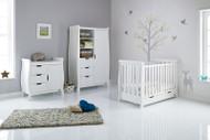 Obaby Stamford Mini 3 Piece Room Set - White