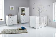Obaby Stamford Classic 3 Piece Room Set - White