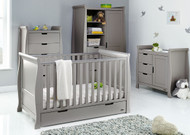 Obaby Stamford Classic 4 Piece Room Set - Taupe Grey