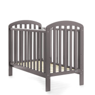 Obaby Lily Cot + Free Foam Mattress - Taupe Grey