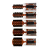 Via Crystal Ion Round Wood Boar Brushes, Rosewood Finish