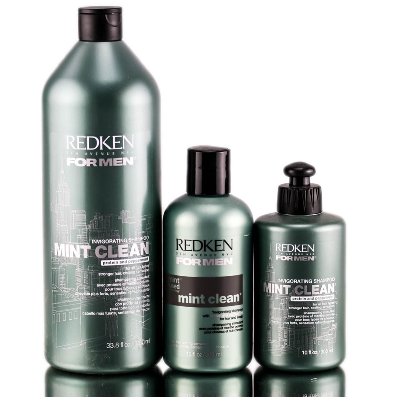 Redken For Men Mint Clean Invigorating Shampoo Sleekshop Com Formerly Sleekhair