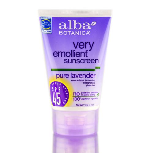 Alba Botanica Very Emollient Sunscreen Pure Lavender SPF 45
