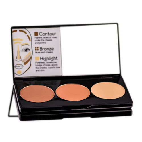 Motives 3-In-1 Contour & Bronze And Highlight Kit