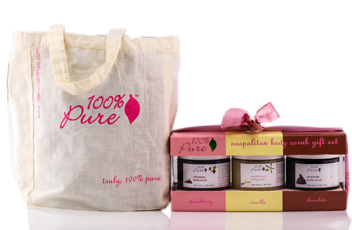 100% Pure Neopolitan Body Scrub Gift Set