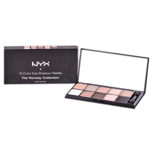 NYX 10 Color Eye Shadow Palette The Runway Collection
