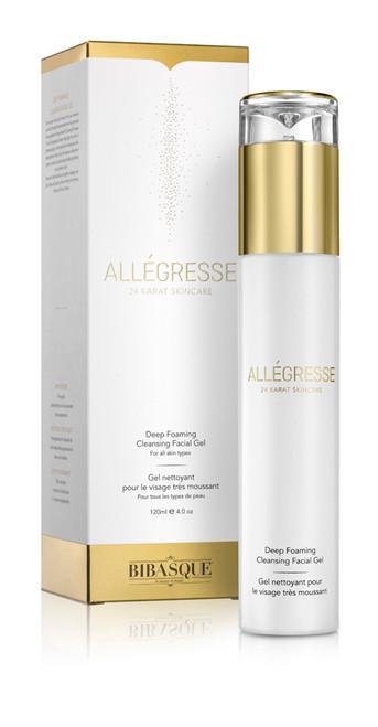 Allegresse 24K Gold Deep Foaming Cleansing Facial Gel