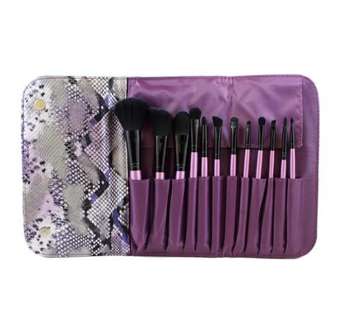 Morphe 12 Piece Purple Set W/ Snakeskin Case