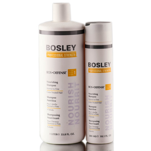 Bosley Defense Nourishing Shampoo for Normal to Fine / Color-Treated Hair