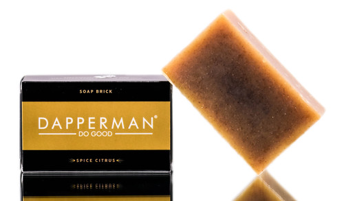 Dapperman Organic Deodorizing Body Soap Brick