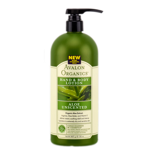 Avalon Organics Aloe Unscented Hand & Body Lotion