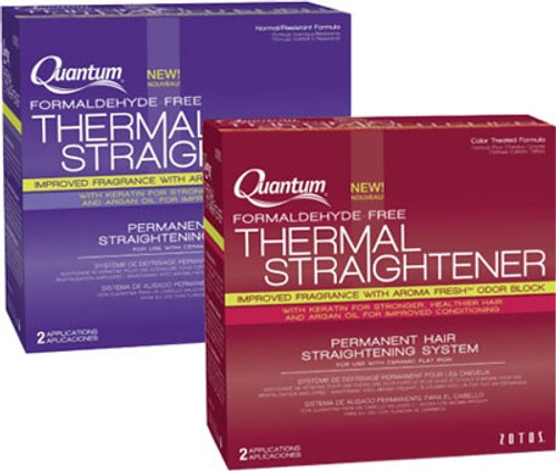 Quantum Thermal Straightener Permanent Hair Straightening System (Formaldehyde-Free)