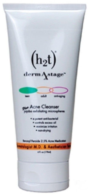 H2T Head to Toe dermAstage Benzoyl Peroxide Acne Cleanser