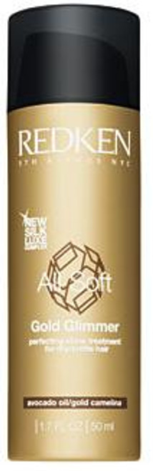 Redken All Soft Gold Glimmer - protecting shine treatment for dry/brittle hair