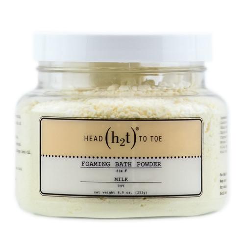 H2T Head to Toe Foaming Bath Powder Milk