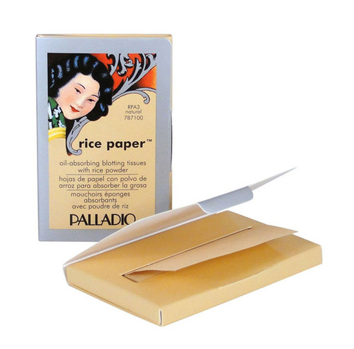 Palladio Rice Paper- Oil Absorbing Blotting Tissues W/ Rice Powder
