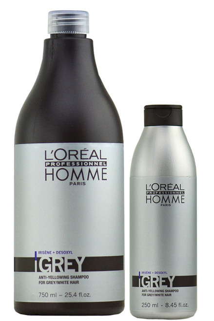 L'oreal Homme Grey Anti-Yellowing Shampoo for Grey/White Hair