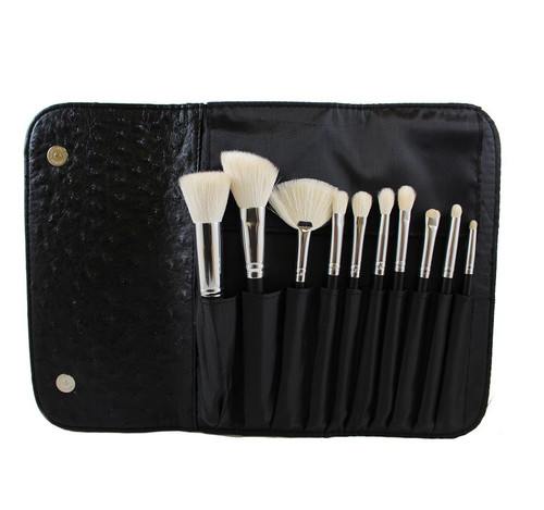 Morphe 10 Piece Deluxe Set W/ Ostrich Skin Snap Case - Set 692