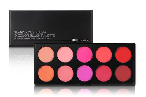 BH Cosmetics Glamorous 10 Color Blush Palette