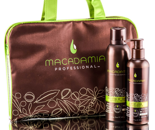 Macadamia Extend Dry Shampoo and Blow Dry Lotion Bag Set