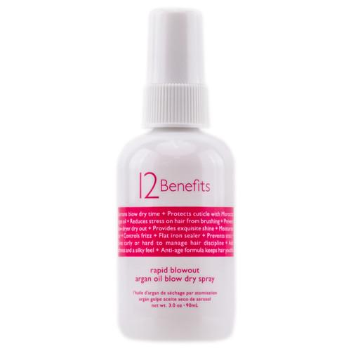 12 Benefits Rapid Blowout Argan Oil Blow Dry Spray