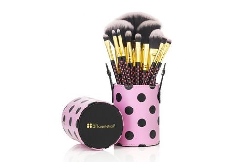 BH Cosmetics 11 Pc Pink a Dot Brush Set