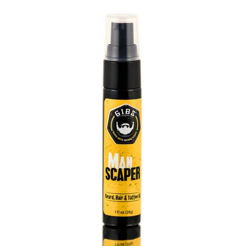 GIBS Man Scaper Beard, Hair & Tattoo Oil