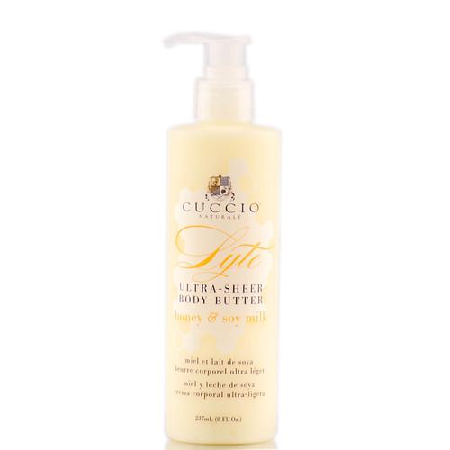 Cuccio Lyte Ultra Sheer Body Butter - Honey & Soy Milk