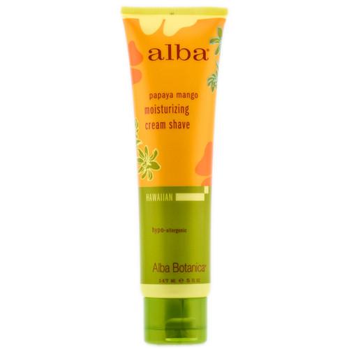 Alba Botanica Papaya Mango Moisturizing Cream Shave - 5 oz