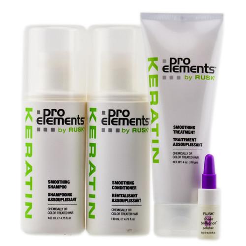 Rusk Keratin Pro Elements Smoothing Treatment Kit