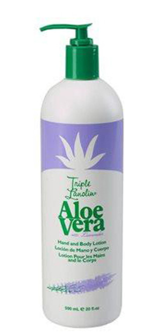 Triple Lanolin Aloe Vera with Lavender Hand and Body Lotion
