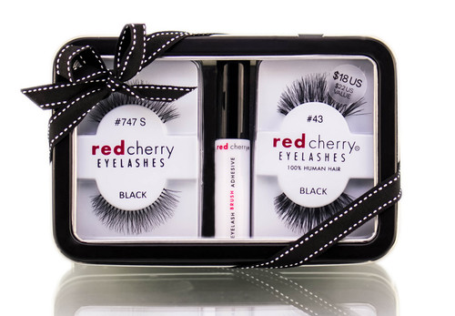 Troika Red Cherry Eyelashes Gift Set