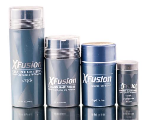 XFusion Light Brown Keratin Hair Fibers