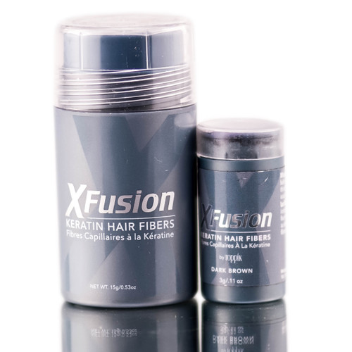 XFusion Dark Brown Keratin Hair Fibers