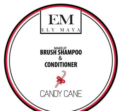 Ely Maya Make-up Brush Shampoo & Conditioner - Candy Cane
