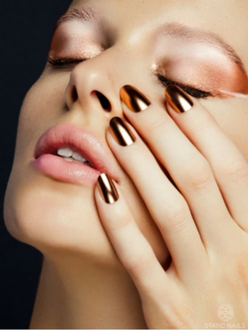 Static Nails Chrome Collection - Copper Edit