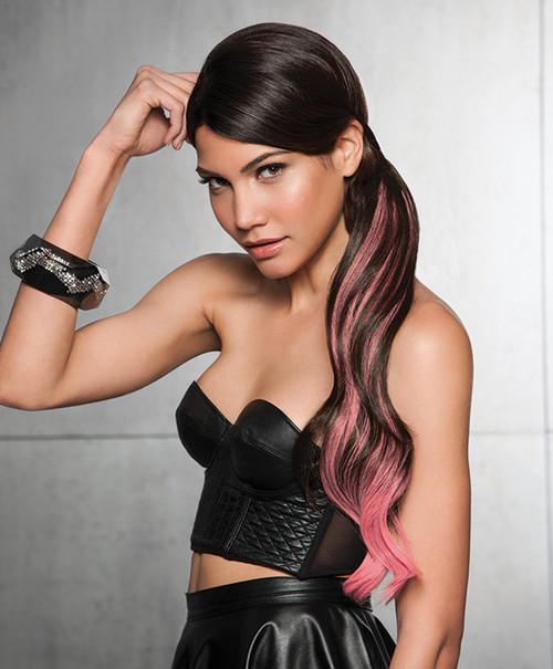 "Hairdo 23"" Color Splash Wrap Around Pink Pony"